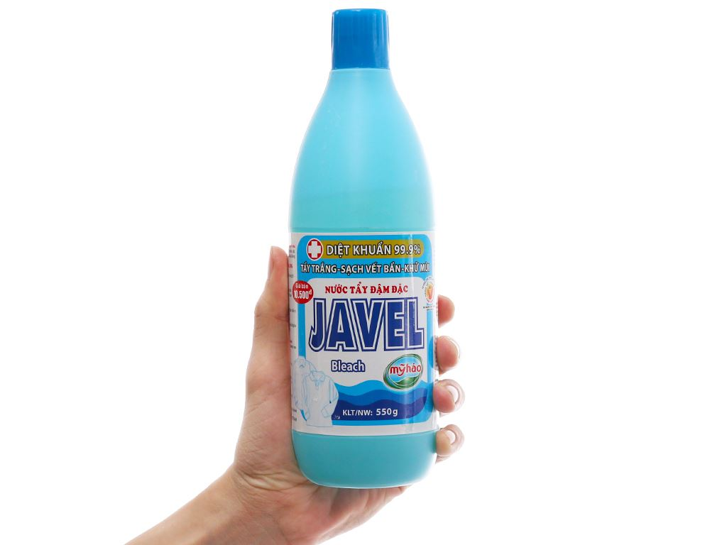 Nước tẩy quần áo trắng Mỹ Hảo Javel 550g 4