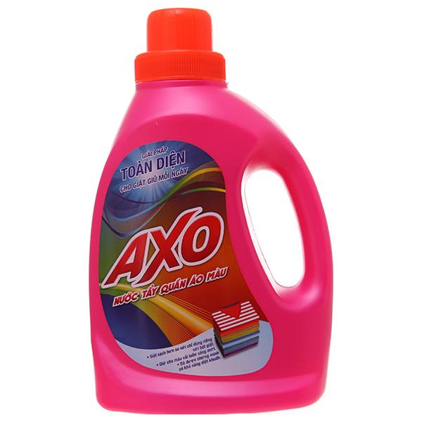 Nước tẩy Quần áo màu AXO hương hoa đào 800ml 2