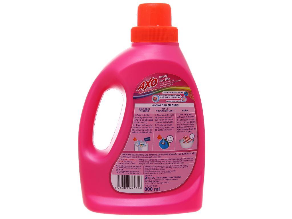 Nước tẩy Quần áo màu AXO hương hoa đào 800ml 3