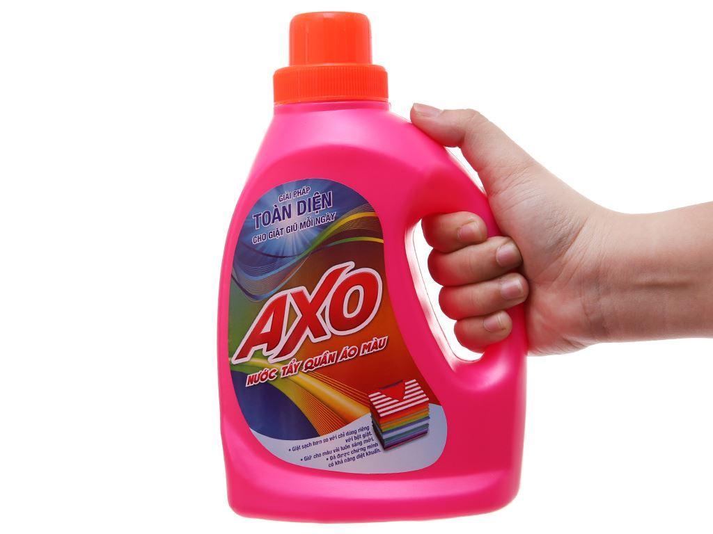 Nước tẩy quần áo màu AXO hương hoa đào 800ml 5