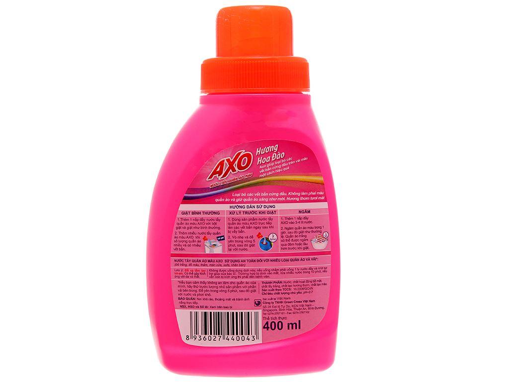Nước tẩy quần áo màu AXO hương hoa đào 400ml 3