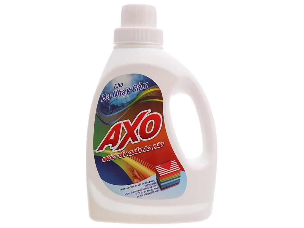 Nước tẩy quần áo màu AXO cho da nhạy cảm hương thanh khiết 800ml 2