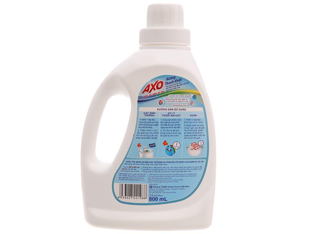 Nước tẩy quần áo màu AXO cho da nhạy cảm hương thanh khiết 800ml 3