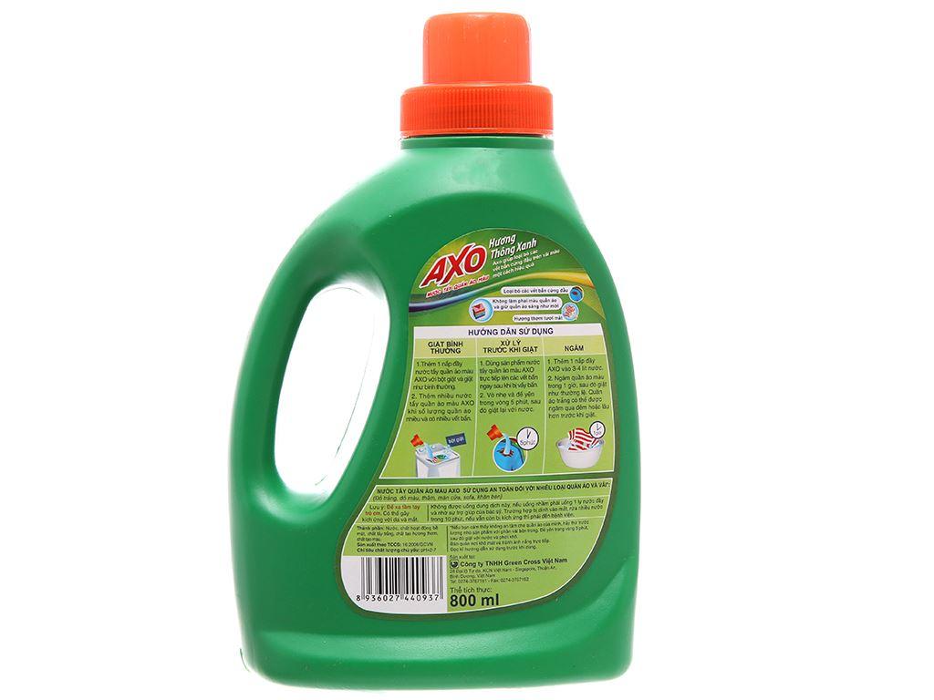 Nước tẩy Quần áo màu AXO hương thông xanh 800ml 3