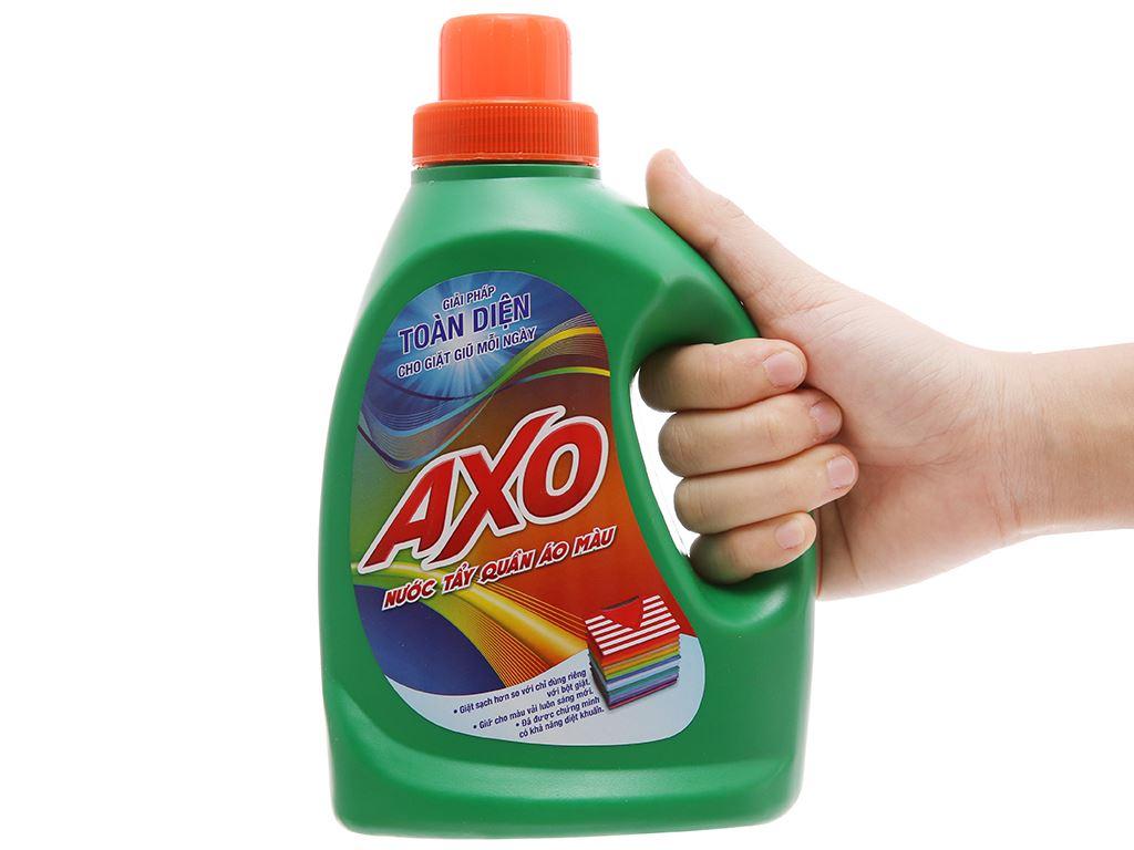 Nước tẩy Quần áo màu AXO hương thông xanh 800ml 4
