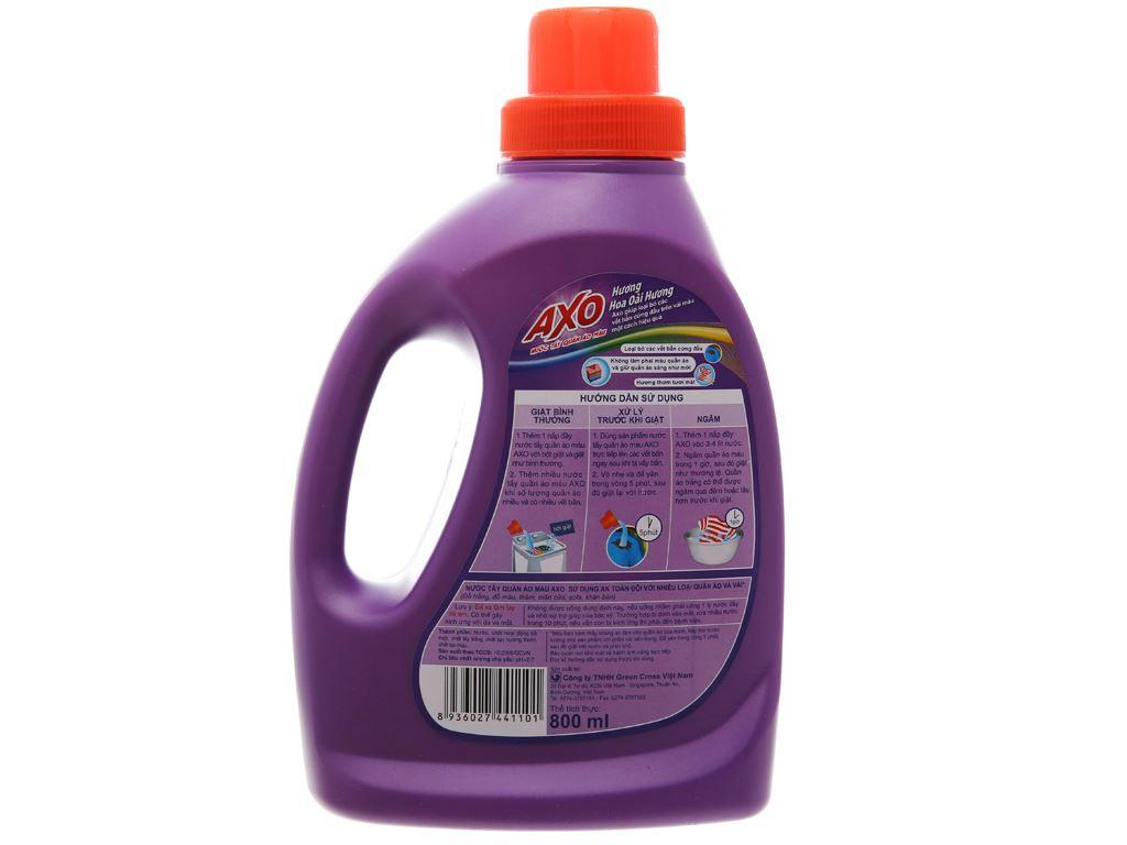 Nước tẩy quần áo màu AXO hương Lavender 800ml 3