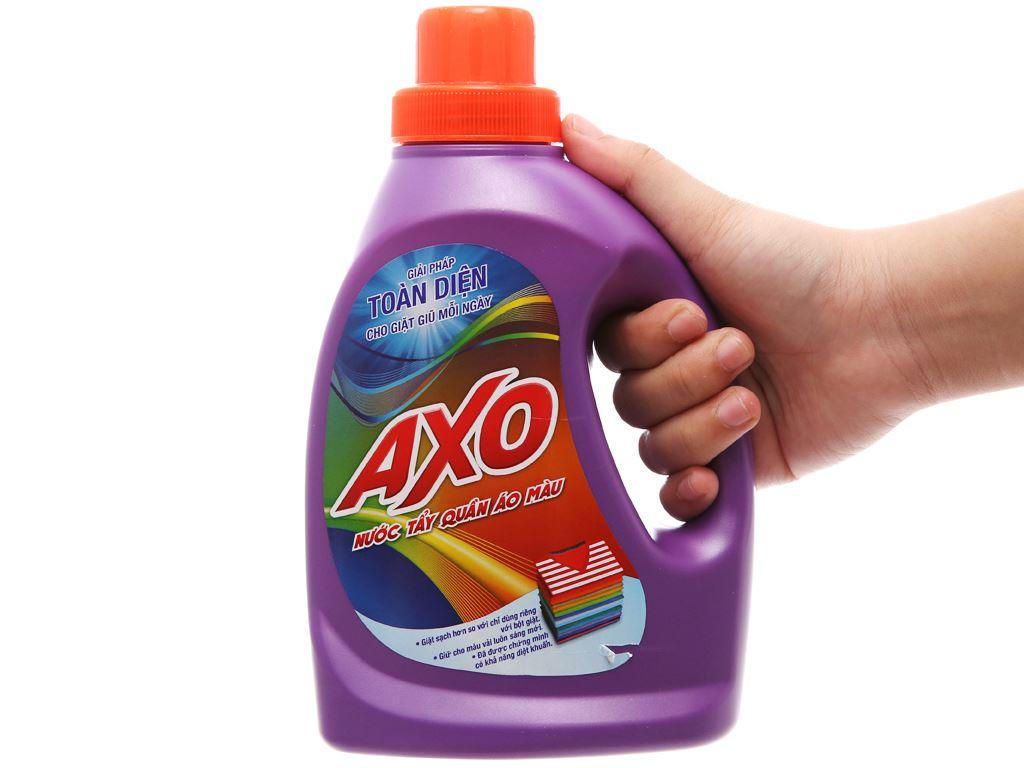 Nước tẩy quần áo màu AXO hương Lavender 800ml 4