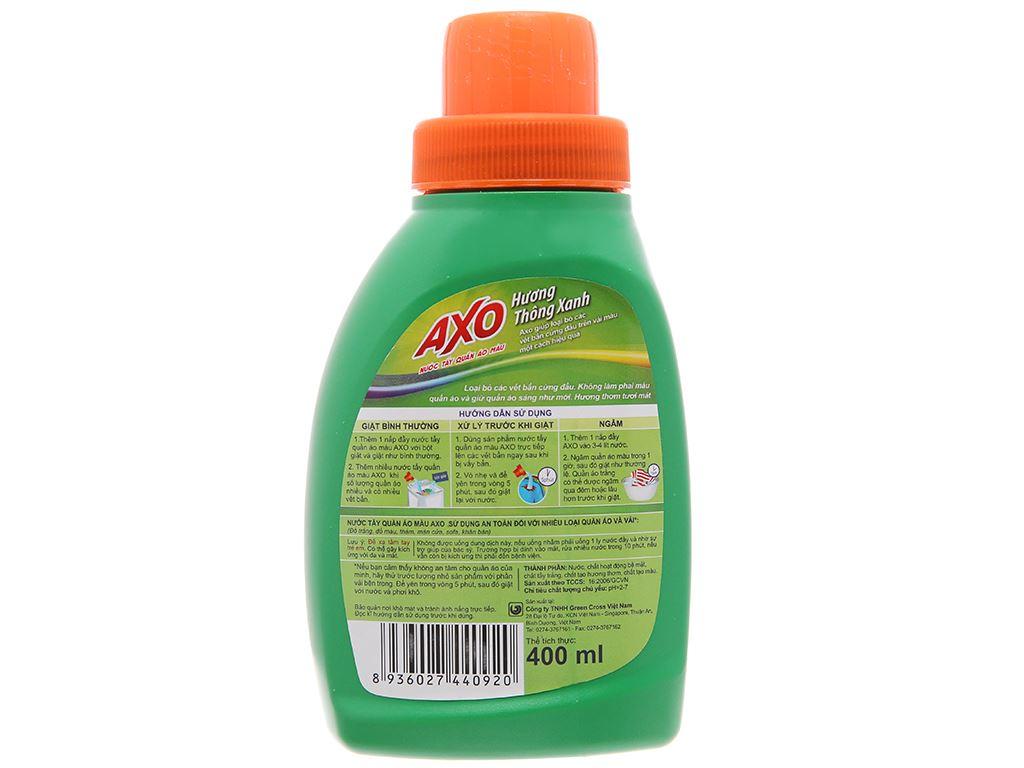 Nước tẩy quần áo màu AXO hương thông xanh 400ml 3