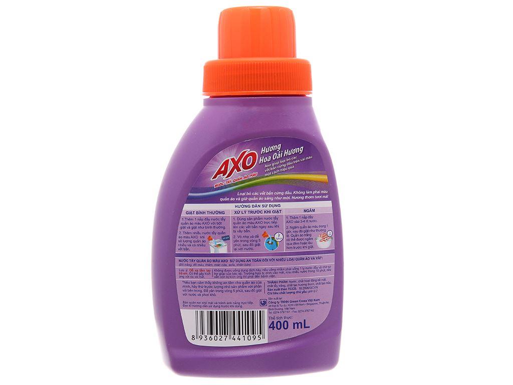 Nước tẩy quần áo màu AXO hương lavender 400ml 3
