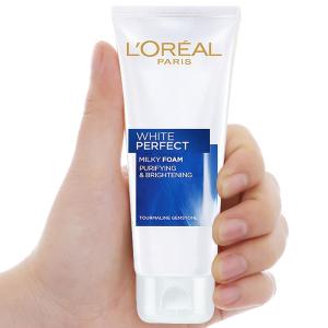 Sữa rửa mặt làm sạch và trắng mịn da L'Oréal White Perfect 50ml