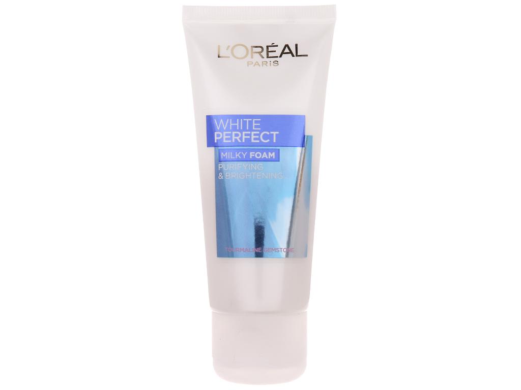 Sữa rửa mặt làm sạch và trắng mịn da L'Oréal White Perfect 50ml 2