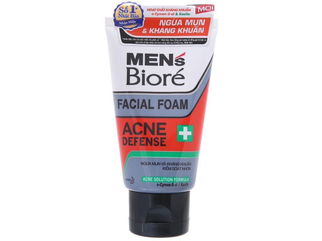 Sữa rửa mặt Men's Bioré ngừa mụn kháng khuẩn 50g 2