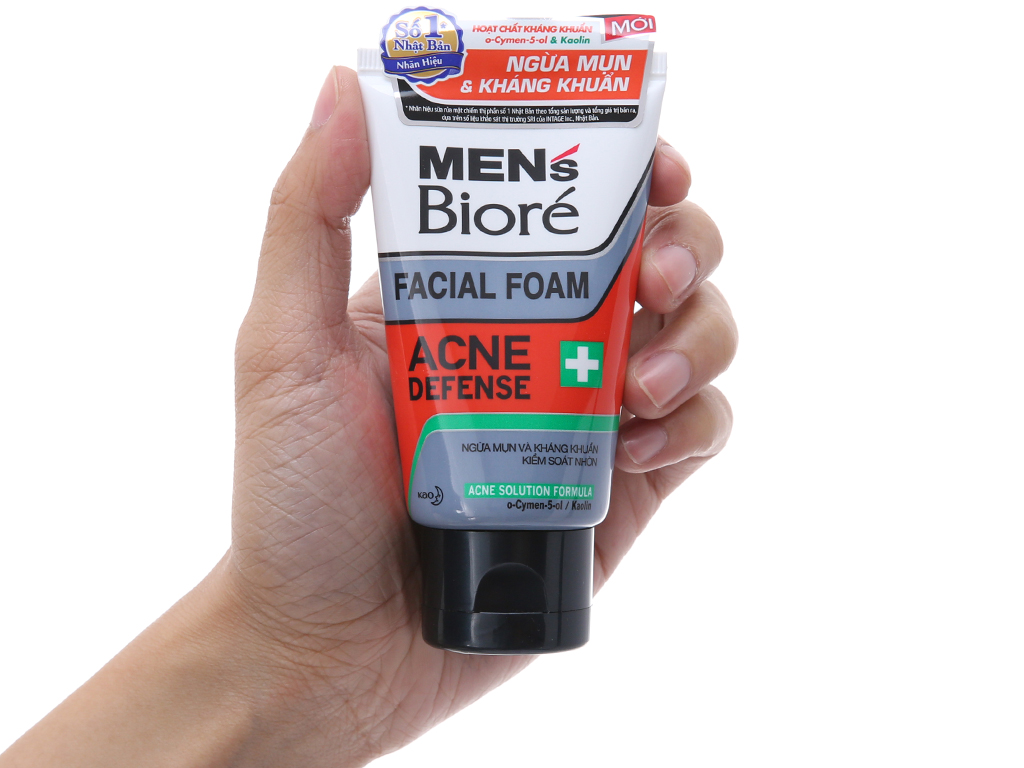Sữa rửa mặt Men's Bioré ngừa mụn kháng khuẩn 50g 4