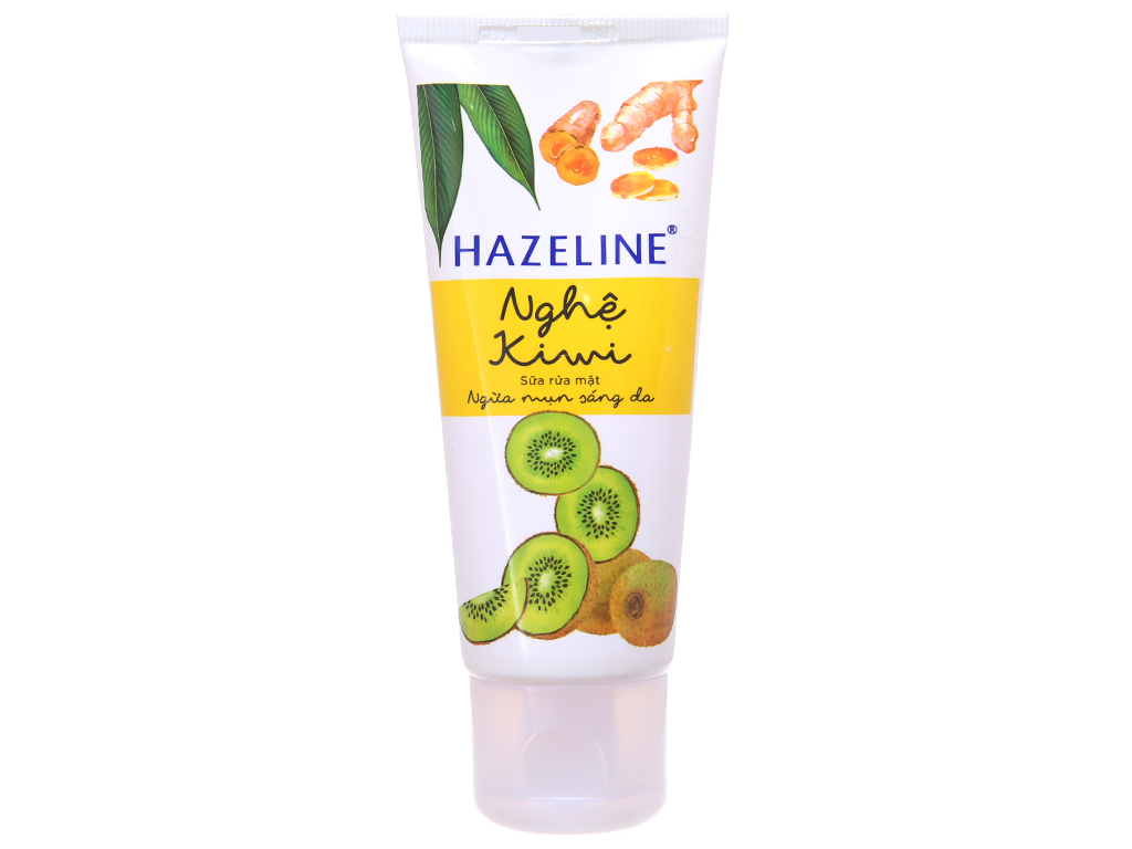 Sữa rửa mặt Hazeline ngừa mụn sáng da nghệ Kiwi 50g 2