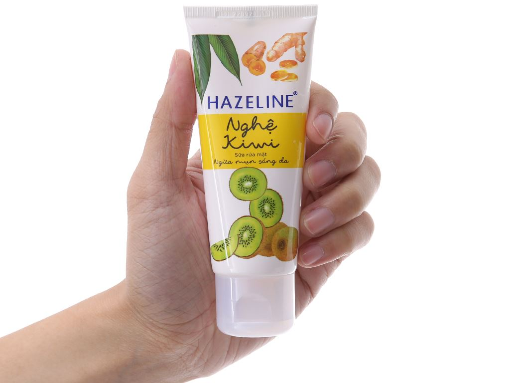 Sữa rửa mặt Hazeline ngừa mụn sáng da nghệ Kiwi 50g 4