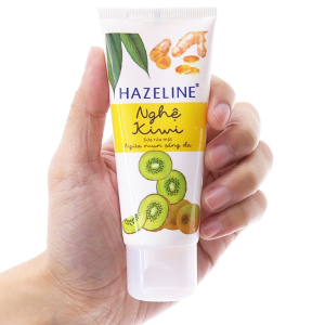 Sữa rửa mặt Hazeline ngừa mụn sáng da nghệ Kiwi 50g