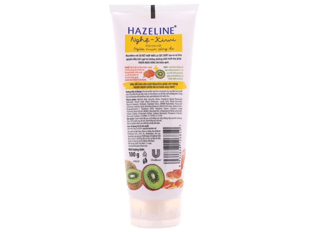 Sữa rửa mặt Hazeline nghệ, kiwi 100g 3