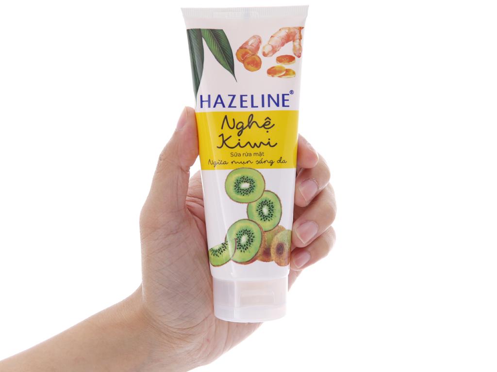 Sữa rửa mặt Hazeline nghệ, kiwi 100g 4