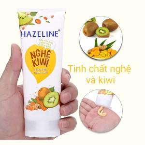 Sữa rửa mặt Hazeline Nghệ & Kiwi phù hợp mọi loại da chiết xuất từ thiên nhiên dịu nhẹ cho da 100g
