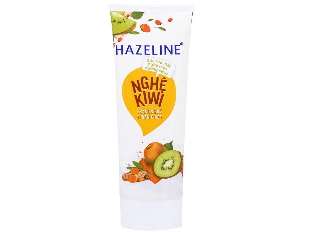 Sữa rửa mặt ngừa mụn dưỡng sáng Hazeline nghệ Kiwi 100g 5