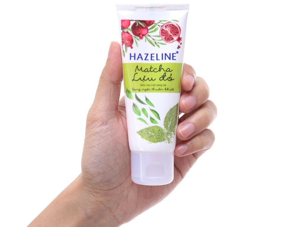 Sữa rửa mặt sáng da Hazeline Matcha lựu đỏ 50g 2