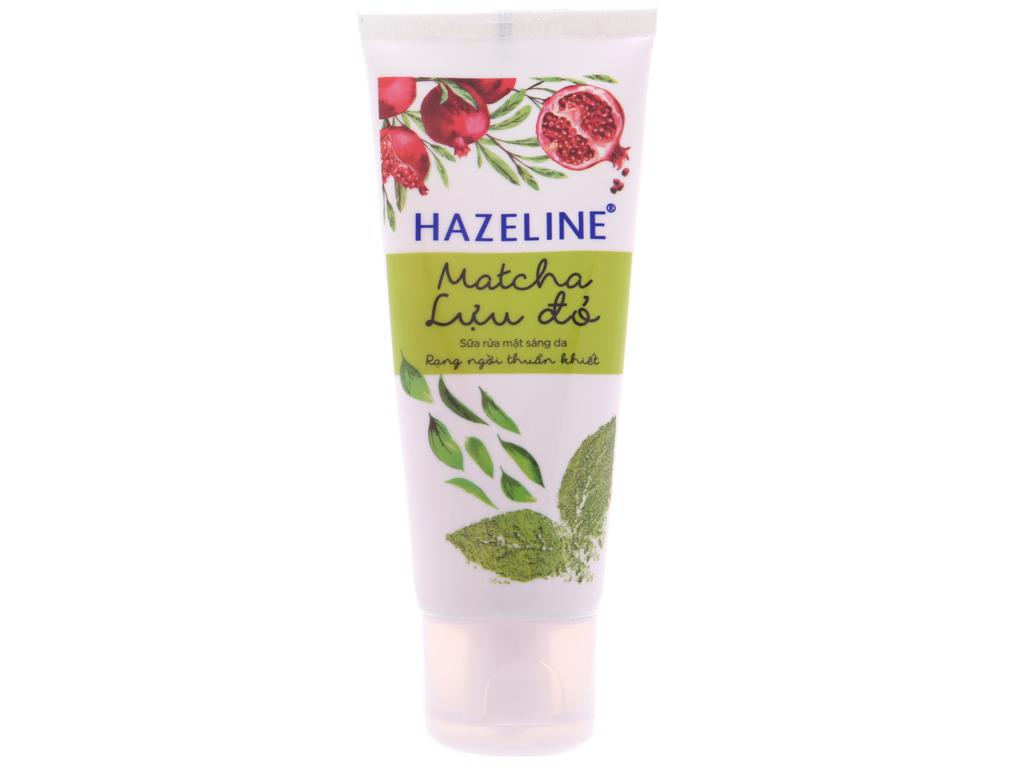 Sữa rửa mặt Hazeline sáng da trà xanh lựu đỏ 50g 3