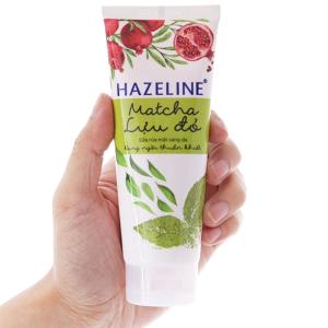 Sữa rửa mặt Hazeline sáng da trà xanh lựu đỏ 100g