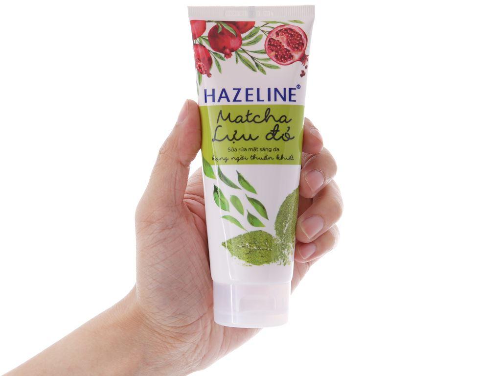 Sữa rửa mặt sáng da Hazeline Matcha lựu đỏ 100g 4