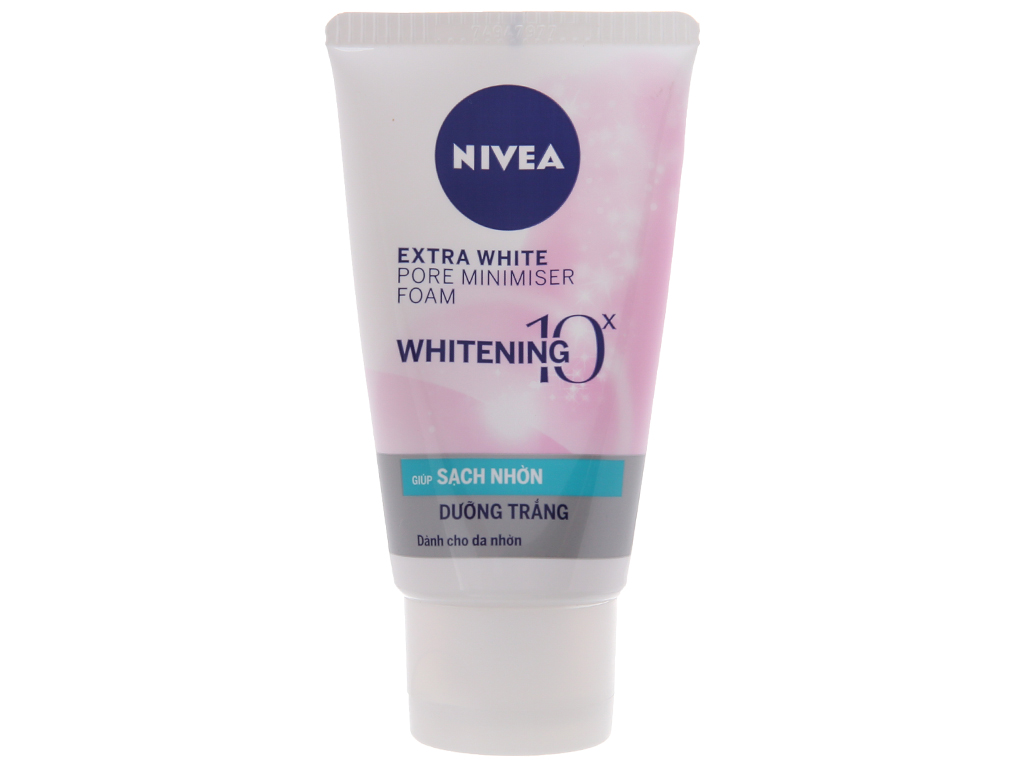 Sữa rửa mặt Nivea sạch nhờn dưỡng trắng 50g 2
