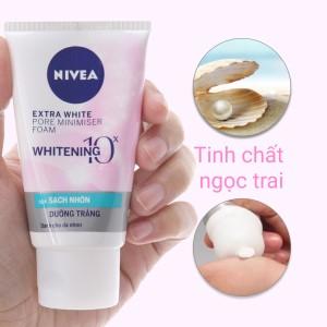 Sữa rửa mặt Nivea sạch nhờn dưỡng trắng 50g