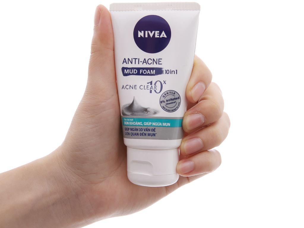 Sữa rửa mặt Nivea ngăn ngừa mụn bùn khoáng 50g 4