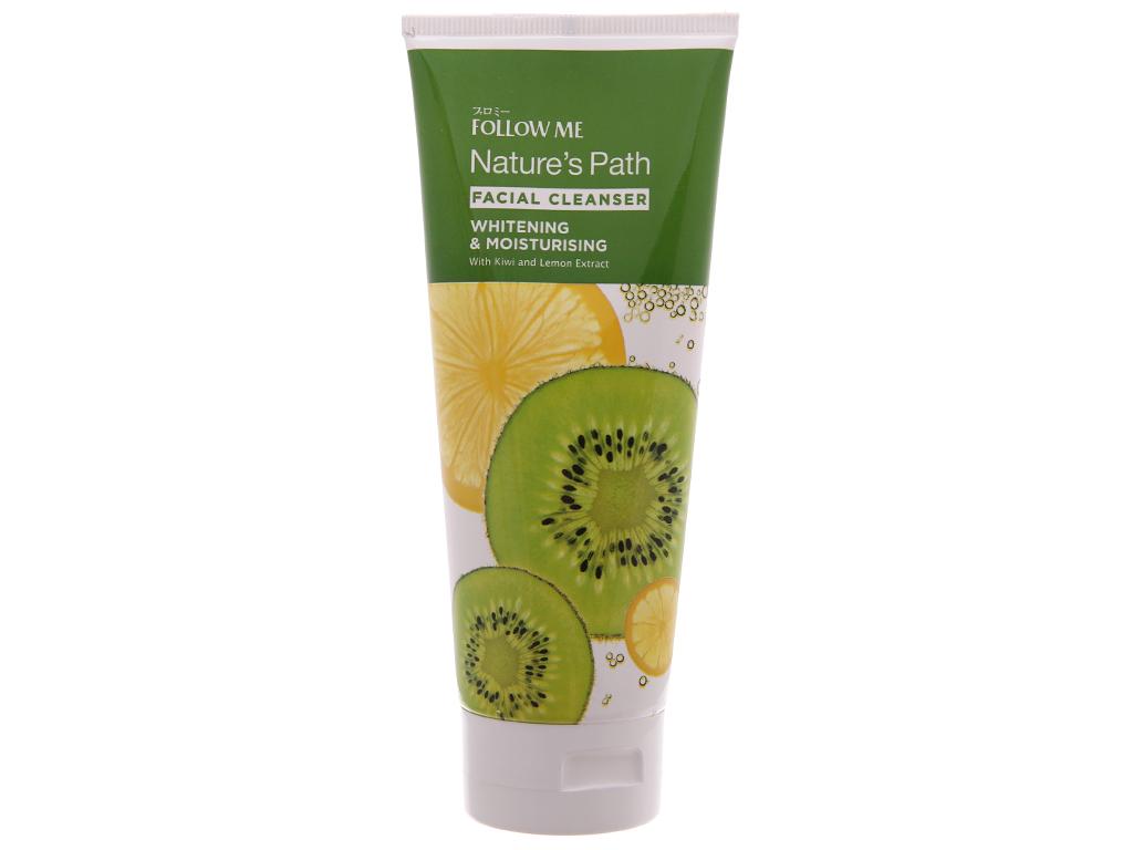 Kem rửa mặt Follow Me trắng da dưỡng ẩm chiết xuất Kiwi 160g 2