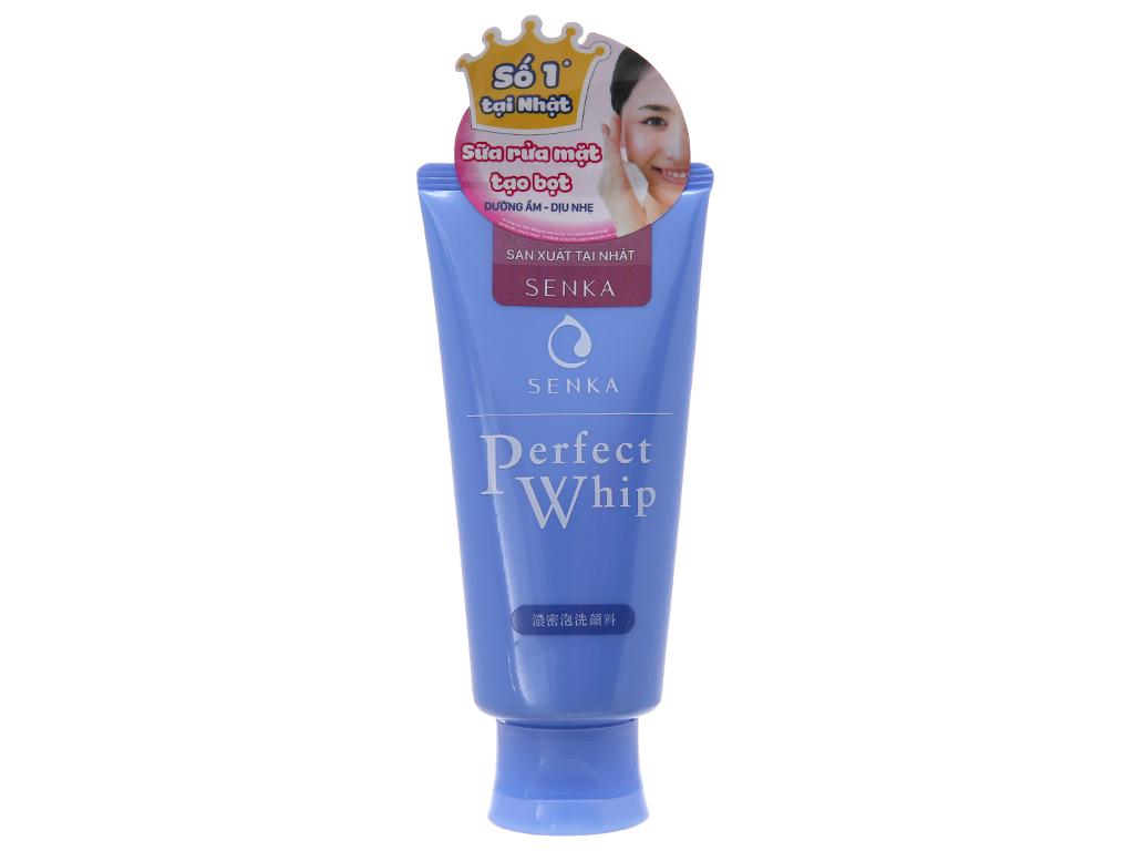 Sữa rửa mặt tạo bọt Senka Perfect Whip 120g 2