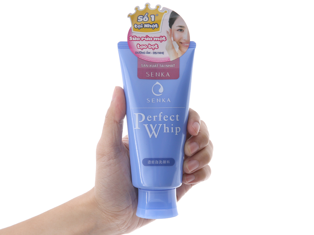 Sữa rửa mặt tạo bọt Senka Perfect Whip 120g 4