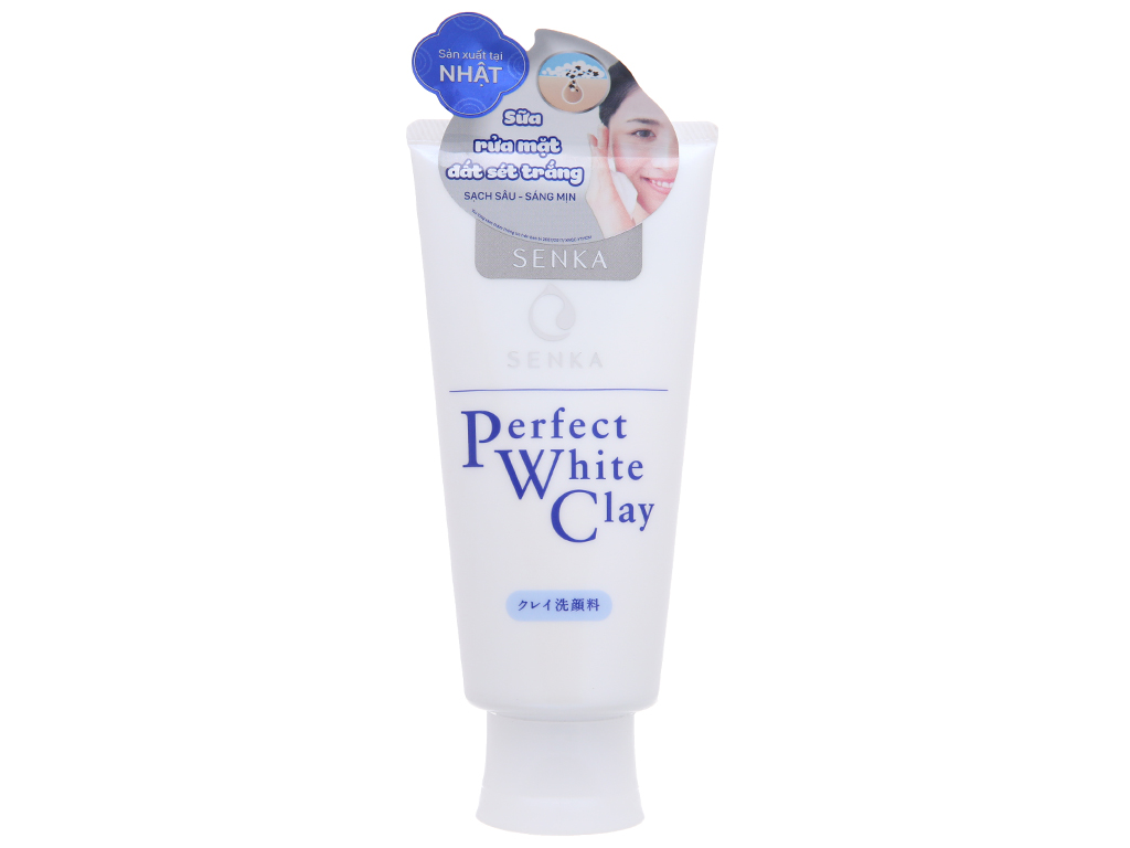 Sữa rửa mặt đất sét trắng Senka Perfect White Clay 120g 2