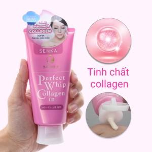 Sữa rửa mặt Senka Perfect Whip Collagen In 120g