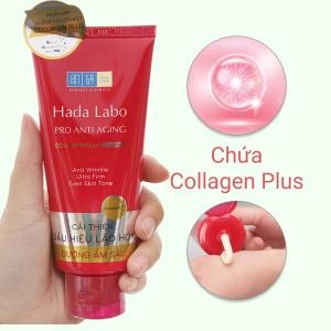 Kem rửa mặt dưỡng chuyên biệt Hada Labo Pro Anti Aging 80g
