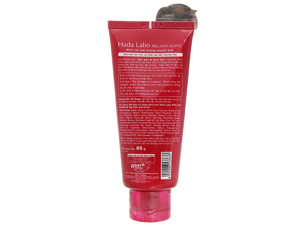 Kem rửa mặt dưỡng chuyên biệt Hada Labo Pro Anti Aging 80g 2