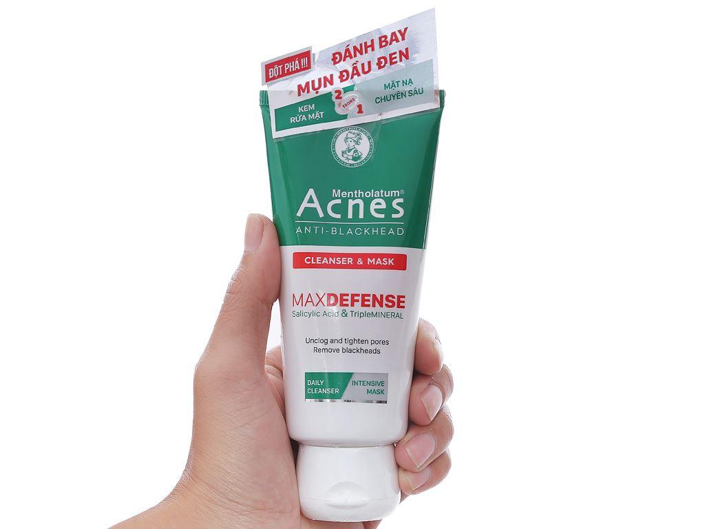 Kem rửa mặt và mặt nạ ngăn ngừa mụn đầu đen Acnes 100g 3