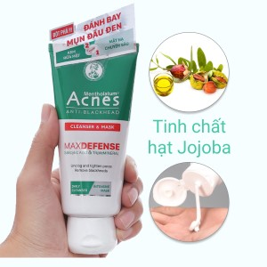 Kem rửa mặt và mặt nạ ngăn ngừa mụn đầu đen Acnes 100g