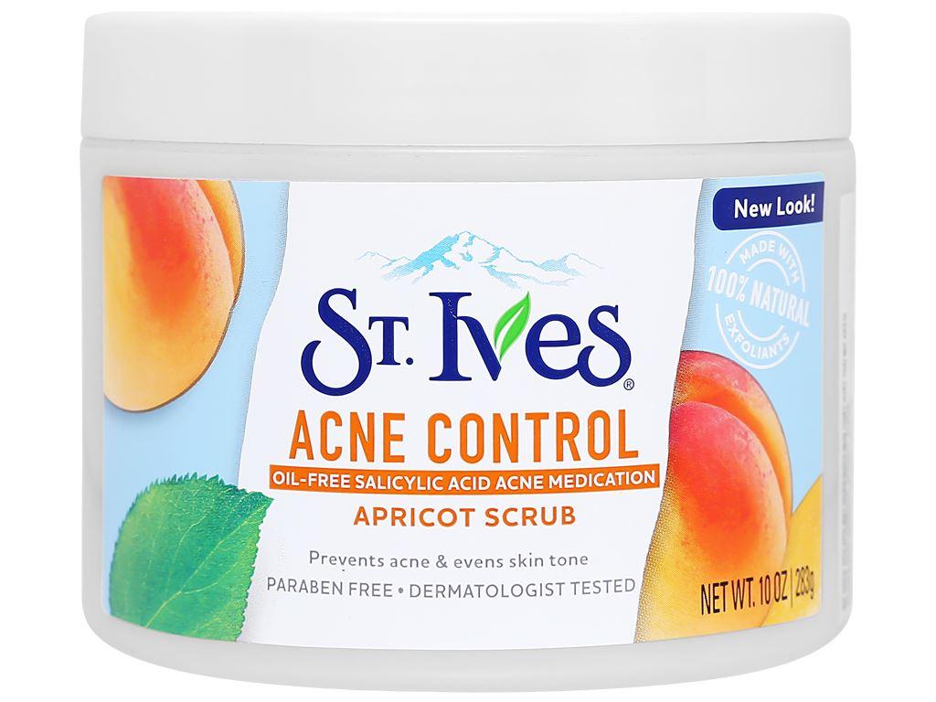 Sữa rửa mặt ngăn ngừa mụn ST.IVES chiết xuất trái mơ 283g 1