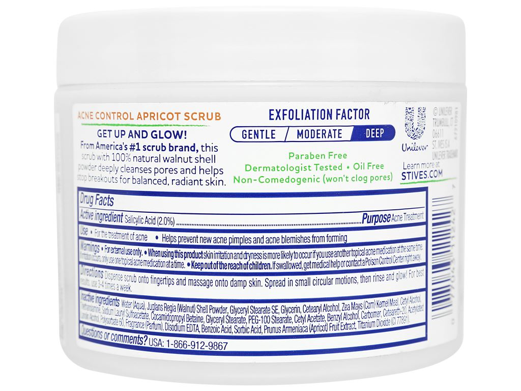 Sữa rửa mặt ngăn ngừa mụn ST.IVES chiết xuất trái mơ 283g 2