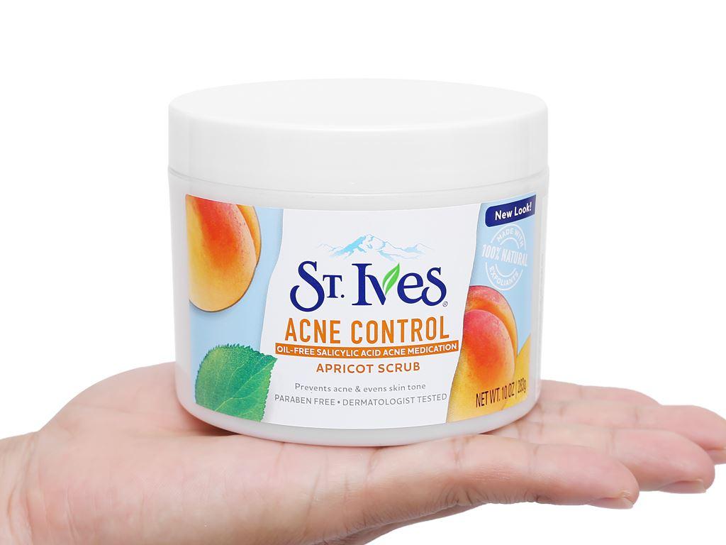 Sữa rửa mặt ngăn ngừa mụn ST.IVES chiết xuất trái mơ 283g 4