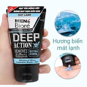 Sữa rửa mặt Men's Bioré Deep Action mát lạnh sảng khoái 100g