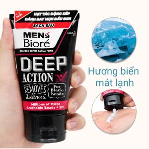 Sữa rửa mặt Men's Bioré Deep Action sạch sâu 100g