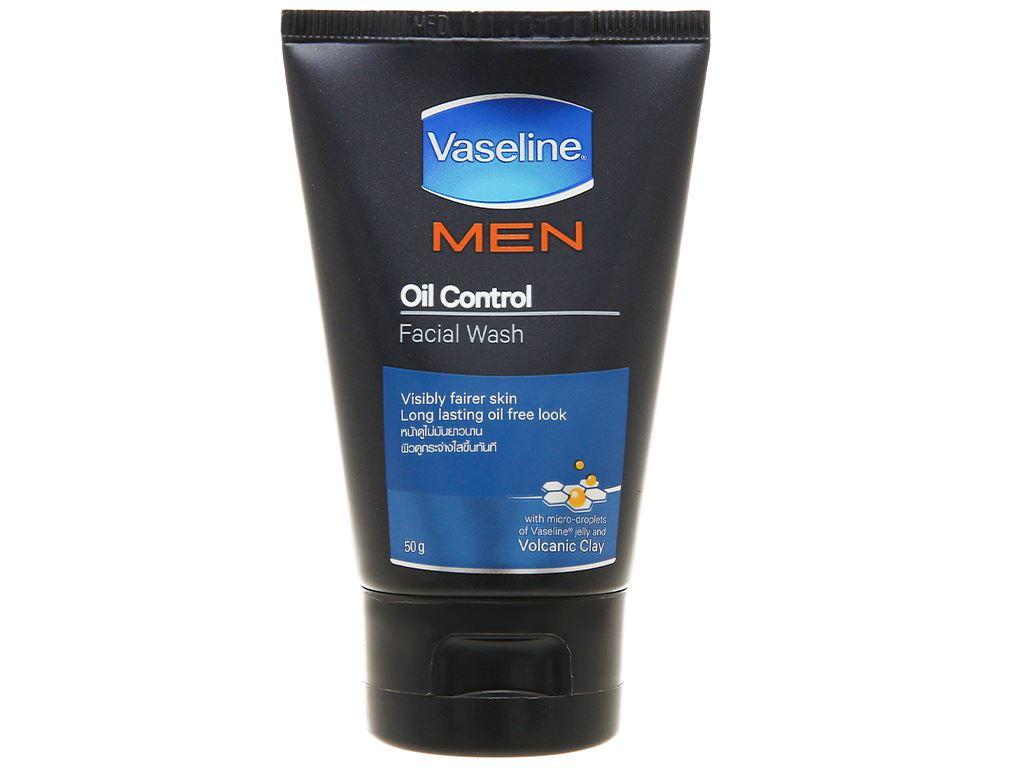 Gel rửa mặt kiểm soát dầu Vaseline Men 50g 1