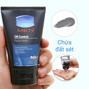 Gel rửa mặt kiểm soát dầu Vaseline Men 50g