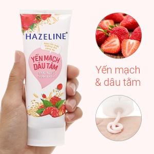 Sữa rửa mặt Hazeline dưỡng ẩm sáng da yến mạch dâu tằm 50g