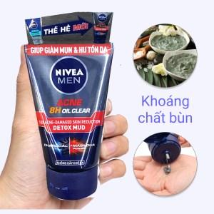 Sữa rửa mặt Nivea Men kiểm soát nhờn ngăn ngừa mụn 100g