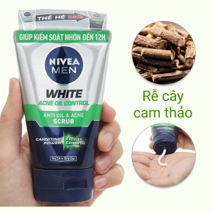 Sữa rửa mặt Nivea kiểm soát nhờn có hạt massage 100g